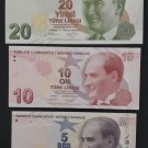 Turkey set of 3 UNC banknotes, Uncirculated Paper money