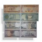 IRAQ Set of 4 UNC current Dinar Banknotes