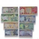 IRAQ current Dinar Complete UNC Banknotes Set