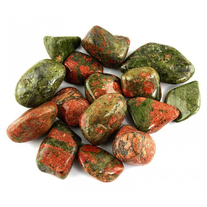 Large Tumbled Unakite Jasper Crystal Gemstone | Wicca | Witchcraft | Pagan | Rituals | Occult