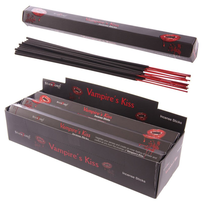 Vampires Kiss Burning Incense / Josh Sticks    Wicca   Witchcraft   Pagan   Rituals   Occult