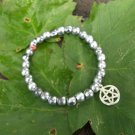Silver Pentagram Stretchy Beaded Bracelets | Pagan Jewellery | Wicca | Witchcraft | Magick