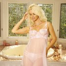 Sheer Babydoll & G-String (Size Small) Embroidered