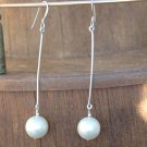 Faux Pearl Long Drop Earrings