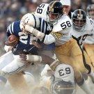 JACK LAMBERT & ERNIE HOLMES 8X10 PHOTO PITTSBURGH STEELERS PICTURE NFL FOOTBALL