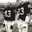 GEORGE ATKINSON & TED HENDRICKS 8X10 PHOTO OAKLAND RAIDERS PICTURE NFL FOOTBALL