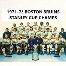 BOSTON BRUINS 1971-72 TEAM 8X10 PHOTO HOCKEY PICTURE NHL STANLEY CUP CHAMPS