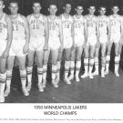 1950 MINNEAPOLIS LAKERS 8X10 TEAM PHOTO BASKETBALL PICTURE NBA LA WORLD CHAMPS