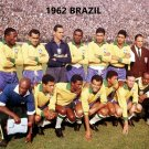 1962 BRAZIL 8X10 TEAM PHOTO SOCCER PICTURE WORLD CUP CHAMPS