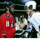 SIDNEY CROSBY & ALEX OVECHKIN 8X10 PHOTO PITTSBURGH PENGUINS CAPITALS PICTURE