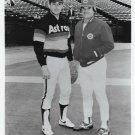 PETE ROSE & NOLAN RYAN 8X10 PHOTO CINCINNATI REDS ASTROS BASEBALL MLB PICTURE BW