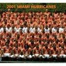 2001 MIAMI HURRICANES 8X10 TEAM PHOTO PICTURE NCAA FOOTBALL WIDE BORDER