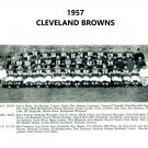 1957 CLEVELAND BROWNS  8X10 TEAM PHOTO FOOTBALL PICTURE NFL