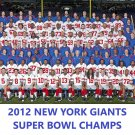 2012 NEW YORK GIANTS NY 8X10 TEAM PHOTO FOOTBALL NFL PICTURE SUPER BOWL CHAMPS