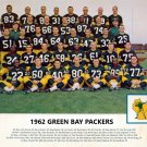 1962 GREEN BAY PACKERS 8X10 TEAM PHOTO FOOTBALL NFL PICTURE COLOR