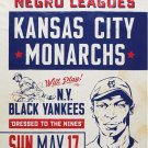 KANSAS CITY MONARCHS vs NY BLACK YANKEES 8X10 PHOTO BASEBALL POSTER PICTURE