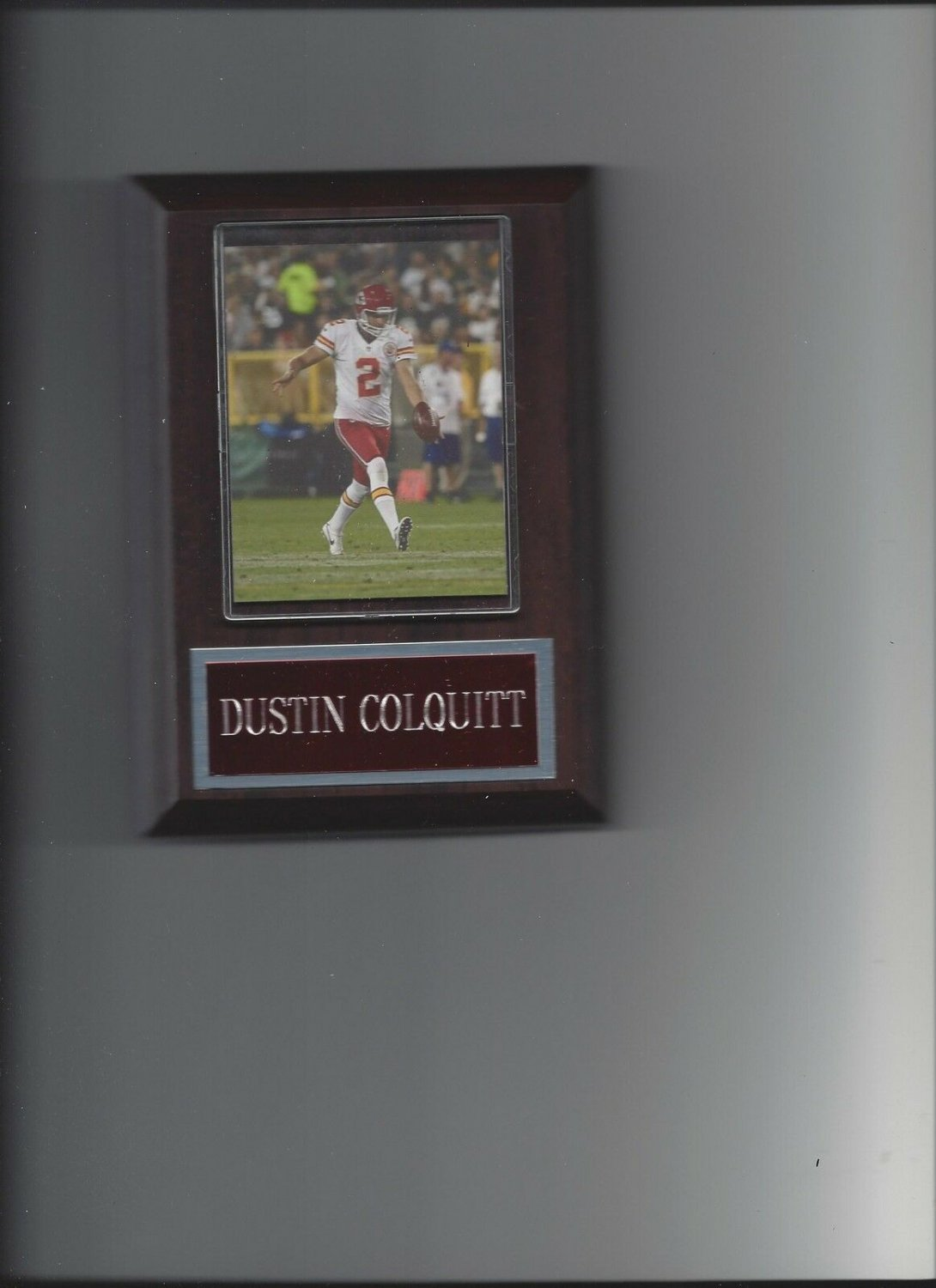 DUSTIN COLQUITT PLAQUE KANSAS CITY CHIEFS KC FOOTBALL NFL