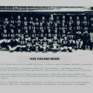 1958 CHICAGO BEARS 8X10 TEAM PHOTO FOOTBALL NFL PICTURE