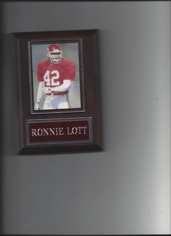 RONNIE LOTT PLAQUE KANSAS CITY CHIEFS KC FOOTBALL NFL