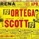 GASPAR ORTEGA  vs CHARLEY SCOTT POSTER 8X10 PHOTO BOXING PICTURE