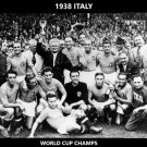 1938 ITALY 8X10 TEAM PHOTO SOCCER PICTURE WORLD CUP CHAMPS