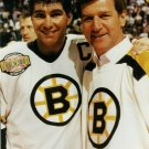 BOBBY ORR & RAY BOURQUE 8X10 PHOTO BOSTON BRUINS NHL PICTURE HOCKEY