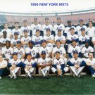 1986 NEW YORK METS 8X10 TEAM PHOTO BASEBALL PICTURE NY WORLD CHAMPS COLOR MLB