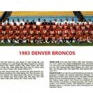 1983 DENVER BRONCOS 8X10 TEAM PHOTO PICTURE NFL FOOTBALL