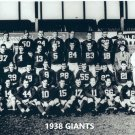 1938 NEW YORK GIANTS NY 8X10 TEAM PHOTO FOOTBALL NFL PICTURE