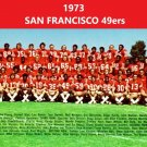 1973 SAN FRANCISCO 49ers 8X10 TEAM PHOTO FOOTBALL PICTURE NINERS NFL