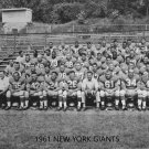 1961 NEW YORK GIANTS NY 8X10 TEAM PHOTO FOOTBALL PICTURE nfl