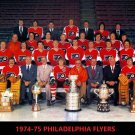 1974-75 PHILADELPHIA FLYERS 8X10 PHOTO HOCKEY NHL PICTURE STANLEY CUP CHAMPS