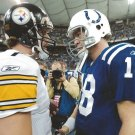 PEYTON MANNING BEN ROETHLISBERGER 8X10 PHOTO INDIANAPOLIS COLTS NFL FOOTBALL