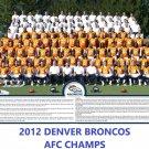 2012 DENVER BRONCOS 8X10 TEAM PHOTO PICTURE NFL FOOTBALL AFC CHAMPS