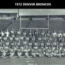1972 DENVER BRONCOS 8X10 TEAM PHOTO PICTURE NFL FOOTBALL