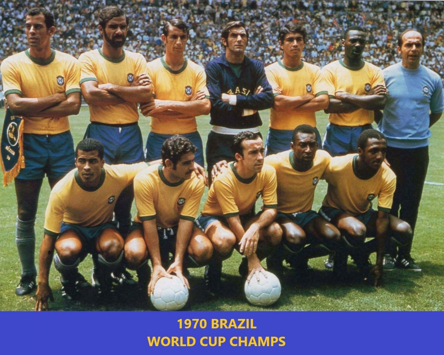 1970 BRAZIL 8X10 TEAM PHOTO SOCCER PICTURE WORLD CUP CHAMPS