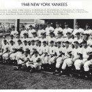 1948 NEW YORK YANKEES 8X10 TEAM PHOTO BASEBALL MLB PICTURE NY