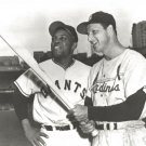 STAN MUSIAL & WILLIE MAYS 8X10 PHOTO CARDINALS GIANTS BASEBALL PICTURE MLB