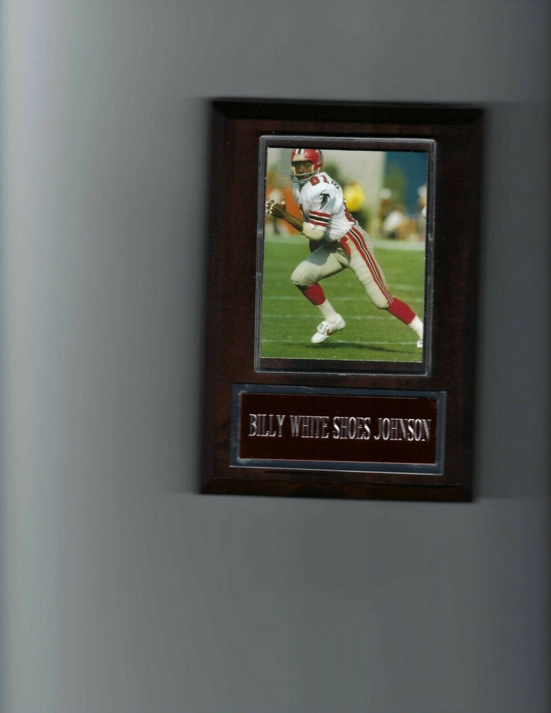 BILLY WHITE SHOES JOHNSON PLAQUE ATLANTA FALCONS FOOTBALL NFL