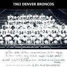 1963 DENVER BRONCOS 8X10 TEAM PHOTO PICTURE AFL FOOTBALL