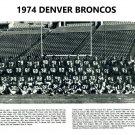 1974 DENVER BRONCOS 8X10 TEAM PHOTO PICTURE NFL FOOTBALL