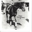 TWOSY 8X10 PHOTO HORSE RACING PICTURE JOCKEY CONN McCREARY