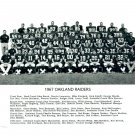 1967 OAKLAND RAIDERS 8X10 TEAM PHOTO FOOTBALL PICTURE AFL