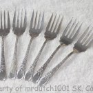 6 Birks London Engraved Sterling 1914 No Monograms Birks Silver Salad Forks