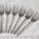 6 Birks London Engraved Sterling 1914 No Monograms Birks Silver Salad Forks