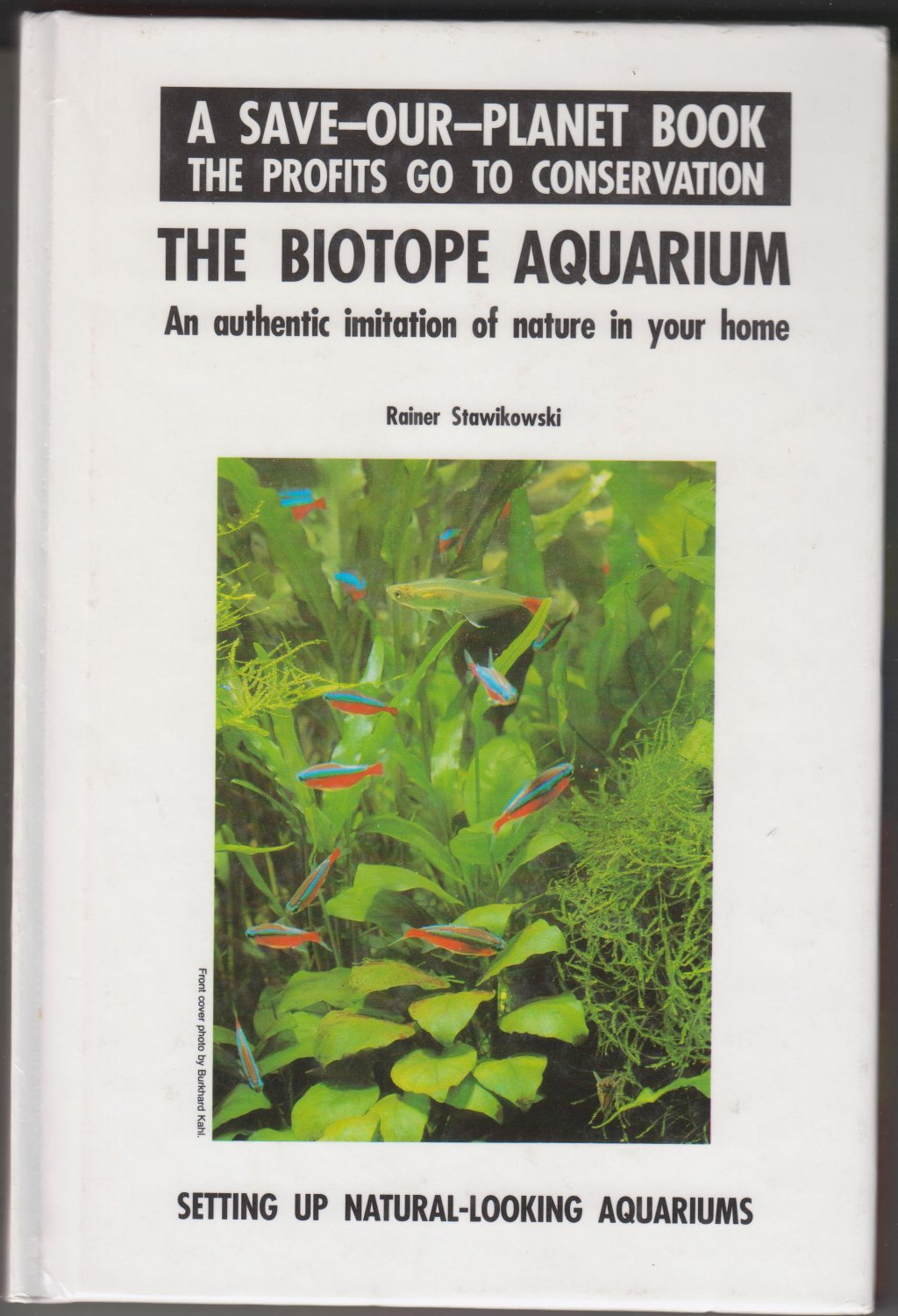 The Biotope Aquarium by Rainer Stawikowski 1993 Hardcover Book-USED