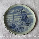 Boch Belgium Vintage Delfts Blue Collector Plate Canal Windmill Scene
