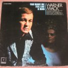 Warner Mack You Make Me Feel Like A Man 1971 Vinyl LP Record