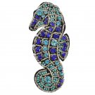 NISWAH Rhinestone Beaded Patches Sea Horse Sew on Iron on Applique Clothing DIY Badge