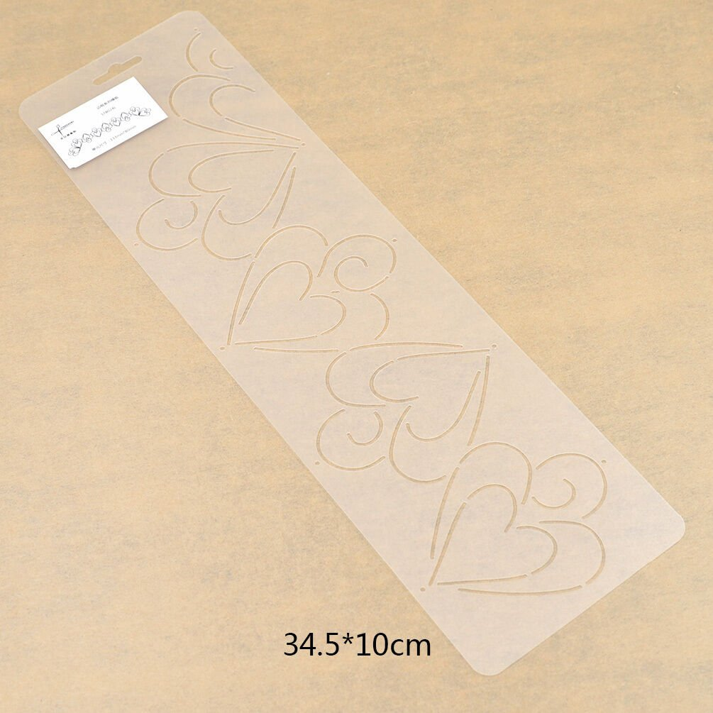 Plastic Clear Quilting Stencil Template for Craft Stitch Sewing DIY Art Craft - Heart
